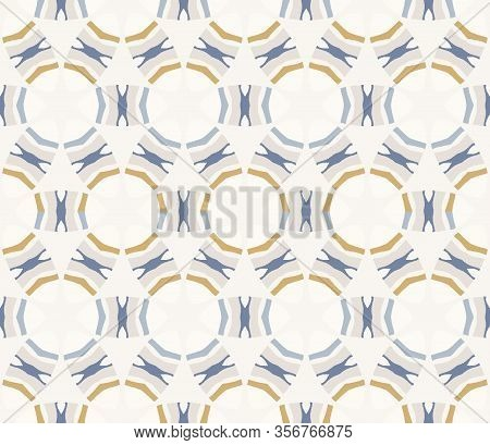 Hand Drawn Whimsical Scribblecircle Stripe Lines Seamless Pattern. Vector Painterly Textured Organic