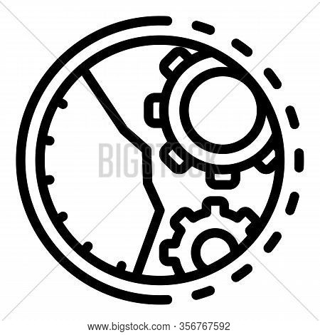 Fix Function Mechanical Watch Icon. Outline Fix Function Mechanical Watch Vector Icon For Web Design