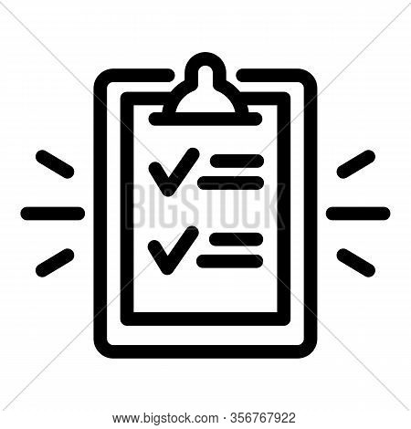 Summary Icon. Outline Summary Vector Icon For Web Design Isolated On White Background