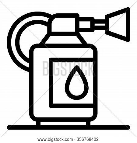 Gasoline Tools Icon. Outline Gasoline Tools Vector Icon For Web Design Isolated On White Background