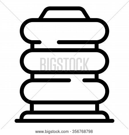 Jack-screw Icon. Outline Jack-screw Vector Icon For Web Design Isolated On White Background