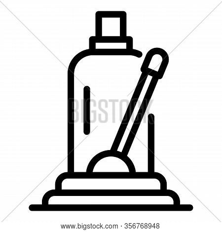 Hydraulic Car Jack Icon. Outline Hydraulic Car Jack Vector Icon For Web Design Isolated On White Bac