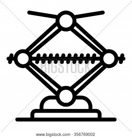 Repair Jack Screw Icon. Outline Repair Jack Screw Vector Icon For Web Design Isolated On White Backg
