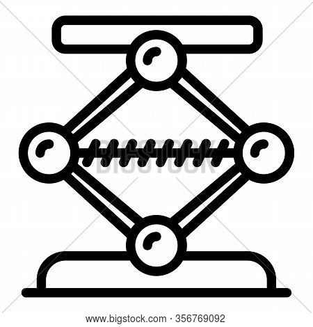 Engine Jack Screw Icon. Outline Engine Jack Screw Vector Icon For Web Design Isolated On White Backg