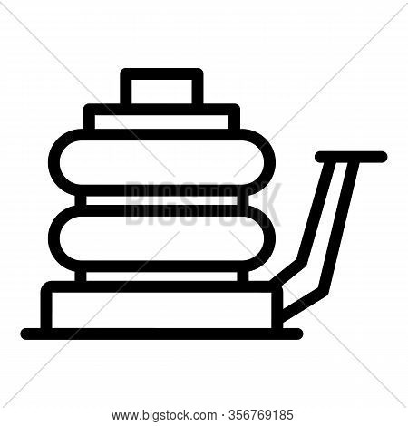 Air Jack Screw Icon. Outline Air Jack Screw Vector Icon For Web Design Isolated On White Background