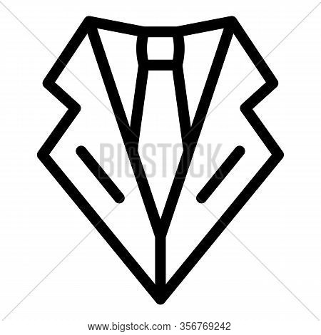 Groom Tie Icon. Outline Groom Tie Vector Icon For Web Design Isolated On White Background