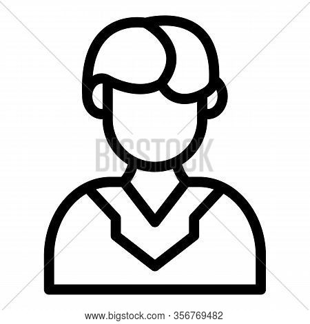 Boy Groom Icon. Outline Boy Groom Vector Icon For Web Design Isolated On White Background