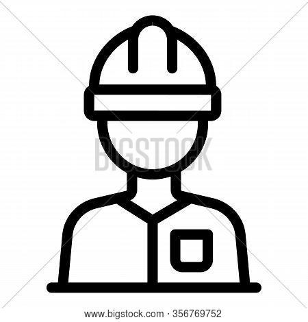 Tiler Worker Icon. Outline Tiler Worker Vector Icon For Web Design Isolated On White Background
