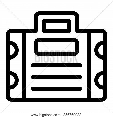 Tiler Tool Box Icon. Outline Tiler Tool Box Vector Icon For Web Design Isolated On White Background