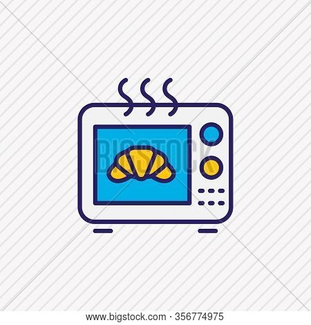 Vector Illustration Of Baking Machine Icon Colored Line. Beautiful Electric Utility Element Also Can