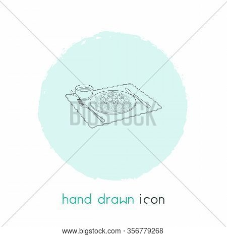Dinner Icon Line Element. Vector Illustration Of Dinner Icon Line Isolated On Clean Background For Y