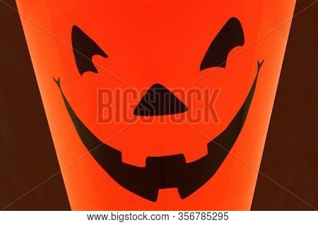 A Halloween Pumpkin Face Closeup For The Seasonal Scare Tactics.