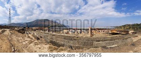 Brickyard In Kathmandu Panorama