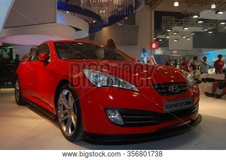 Pasay, Ph - Aug. 19: Hyundai Genesis Coupe At 3rd Philippine International Motor Show On August 19,
