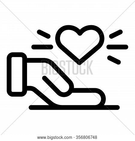 Keep Respect Heart Icon. Outline Keep Respect Heart Vector Icon For Web Design Isolated On White Bac