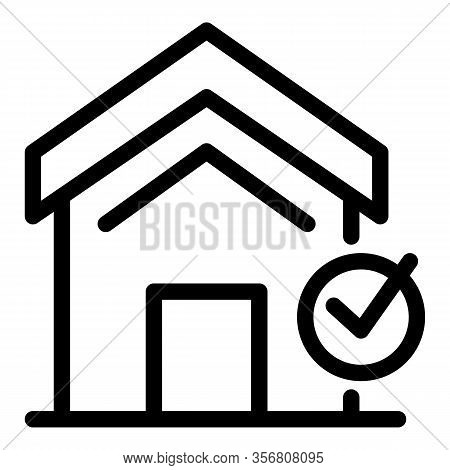 Repairman House Maintenance Icon. Outline Repairman House Maintenance Vector Icon For Web Design Iso