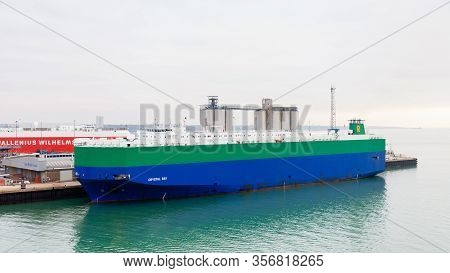 Southampton, England - October 29:  The Bahamas Registered Vehicle Carrier Crystal Ray Docked In The