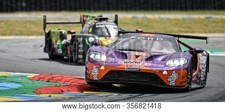 Le Mans / France - June 15-16 2019: 24 Hours Of Le Mans, Keating Motorsports Team, Ford Gt Gteam, Ra