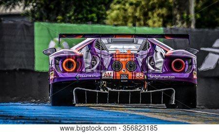 Le Mans / France - June 15-16 2019: 24 Hours Of Le Mans, Keating Motorsports Team , Ford Gt Gteam, R
