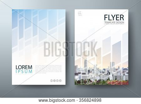Flyer Design, Leaflet Cover Presentation, Book Cover Template Vector, Layout In A4 Size.