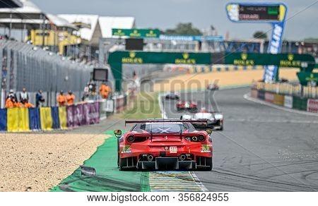 Le Mans / France - June 15-16 2019: 24 Hours Of Le Mans, Clearwater Racing Team, Ferrari 488 Gte Gte