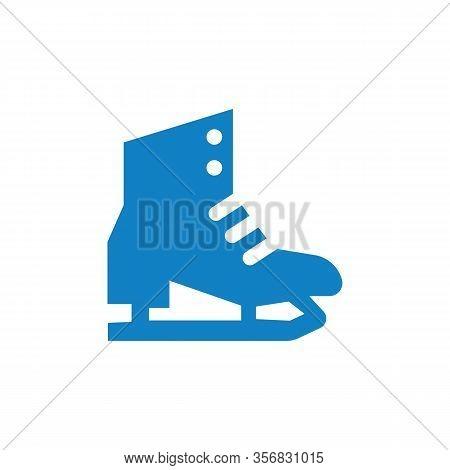 The Skates Icon. Figure Skates Symbol. Flat Vector Illustration