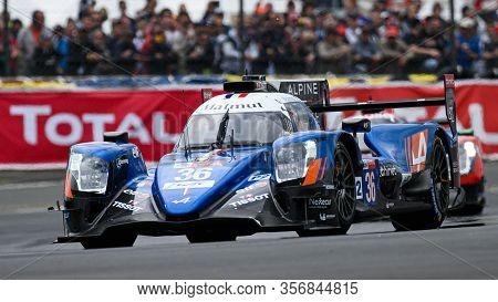Le Mans / France - June 15-16 2019: 24 Hours Of Le Mans, Signatech Alpine Matmut Racing Team, Alpine