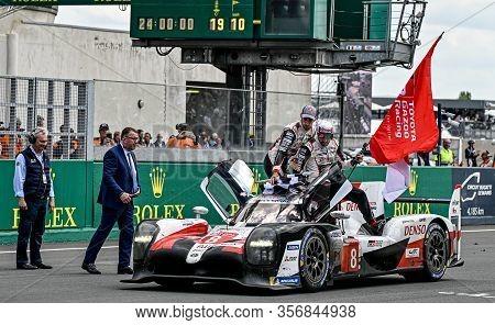 Le Mans / France - June 15-16 2019: 24 Hours Of Le Mans, Lap For The Winner Toyota Ts050 Hybrid, Gaz