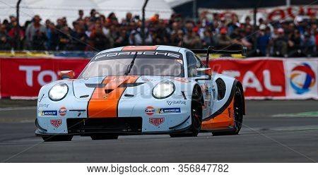 Le Mans / France - June 15-16 2019: 24 Hours Of Le Mans, Gulf Racingteam, Porsche 911 Rsr Lmgteam, R