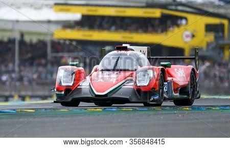 Le Mans / France - June 15-16 2019: 24 Hours Of Le Mans, Dragon Speed Team, Oreca07 Lmp2, Race Of Th