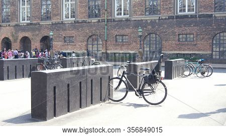 Copenhagen, Denmark - Jul 04th, 2015: Bicycle Parking In The City Center