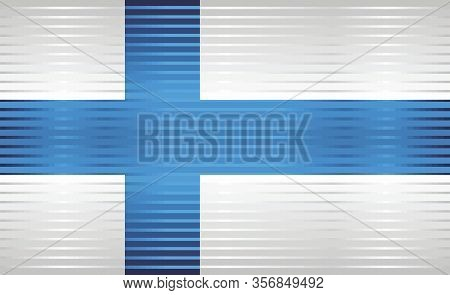 Shiny Grunge Flag Of The Finland - Illustration,  Three Dimensional Flag Of Finland