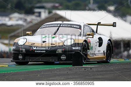 Le Mans / France - June 15-16 2019: 24 Hours Of Le Mans, Porsche Gt  Team, Porsche 911 Rsr Gtepro, R