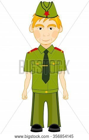 Vector Illustration Men In Year Military Form