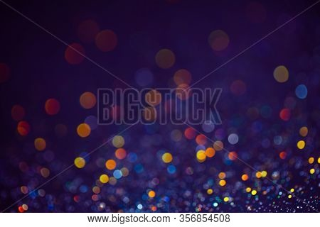 Decoration Bokeh Lights Background, Abstract Blurred Backdrop With Circles, Modern Design Wallpaper