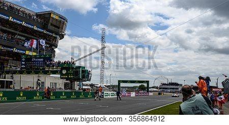 Le Mans / France - June 15-16 2019: 24 Hours Of Le Mans, 15 Hours Arrival Of Winner Toyota Gazoo Rac