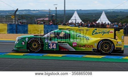Le Mans / France - June 15-16 2019: 24 Hours Of Le Mans, Inter Europol Competition Team, Ligier Js P