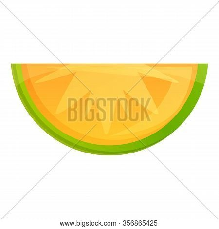 Slice Of Lime Icon. Cartoon Of Slice Of Lime Vector Icon For Web Design Isolated On White Background