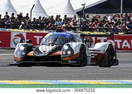 Le Mans / France - June 15-16 2019: 24 Hours Of Le Mans, Lmp3 Nielsen Racing, Ligier Jsp3 - Nissan,