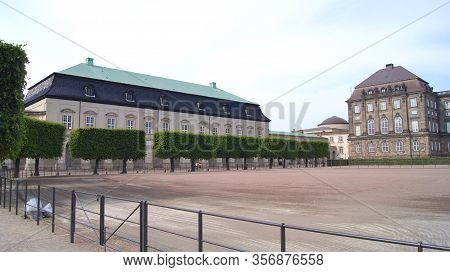 Copenhagen, Denmark - Jul 05th, 2015: The Royal Stables And Carriages Building. The Royal Stables Ar