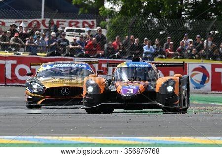 Le Mans / France - June 15-16 2019: 24 Hours Of Le Mans, Inter Europole Dkt Engineering Team, Norma