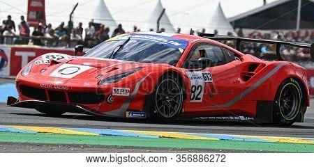 Le Mans / France - June 15-16 2019: 24 Hours Of Le Mans, Inter Europole Kessel Racing Team, Ferrari