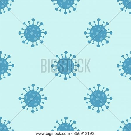 Corona Virus 2019-ncov Seamless Pattern. Corona Virus In Wuhan, China, Global Spread, And Concept St