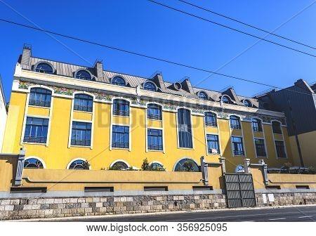 Lisbon - September 05, 2019: Facade Of The Former 1895 Three Storey Commercial Establishment, Today