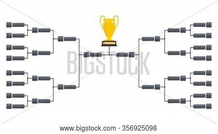 Tournament Bracket Templates. Playoffs Schedule Template. Creative Design Tournament Bracket. Blank