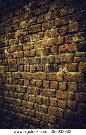 Old Mud Brick Wall, Detail Of History And Ancient