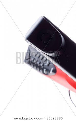 retro telefone. isolated on white