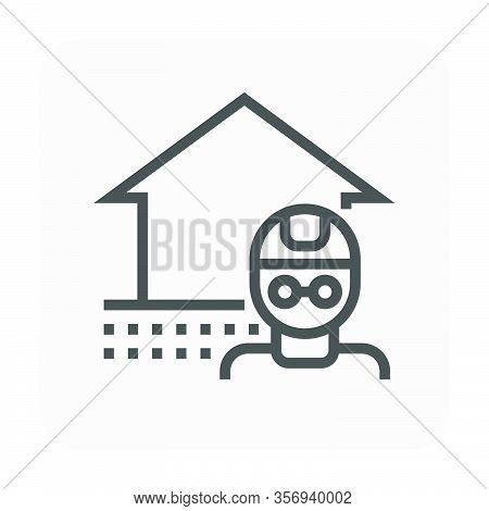 Home Collapse Repair And Engineer Vector Icon Design For Home Problem Graphic Design Element, Editab