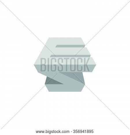 Letter Es Simple Geometric 3d Shadow Design Logo Vector