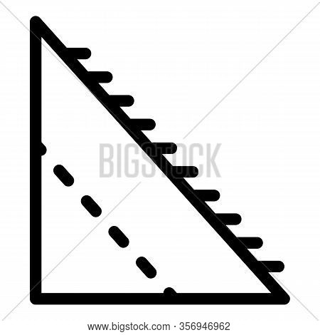 Corner Part Of The Roof Icon. Outline Corner Part Of The Roof Vector Icon For Web Design Isolated On